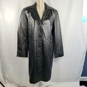 INC WOMAN NWOT Long Leather Coat Size 1X